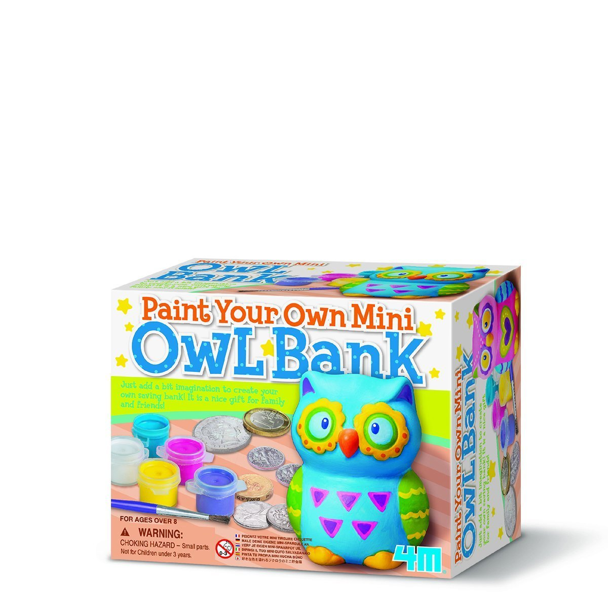 4M Craft: Paint Your Own Mini Owl Bank image