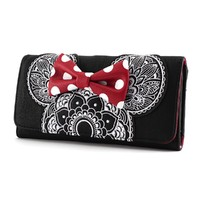 Loungefly Disney Minnie Mouse Mandala Trifold Wallet