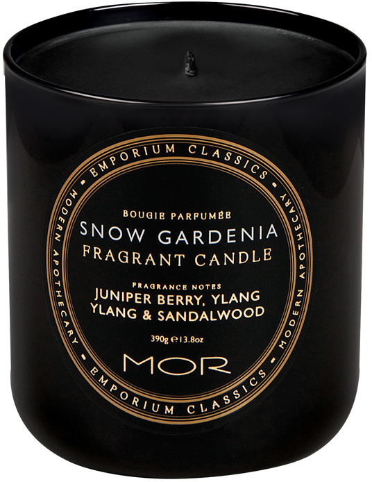 MOR Emporium Classics: Fragrant Soy Candle - Snow Gardenia (390g)