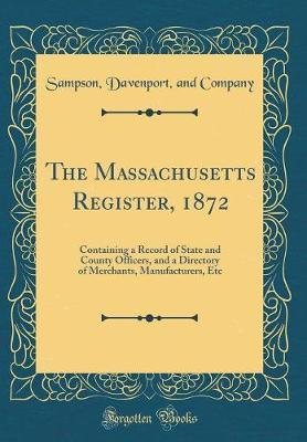 The Massachusetts Register, 1872 by Sampson Davenport and Company image