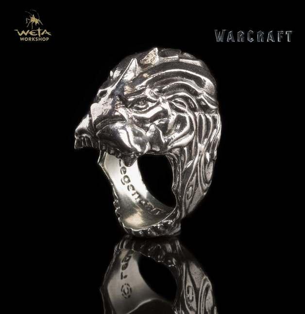 Warcraft Movie King LLane Lion Head Ring Size 8