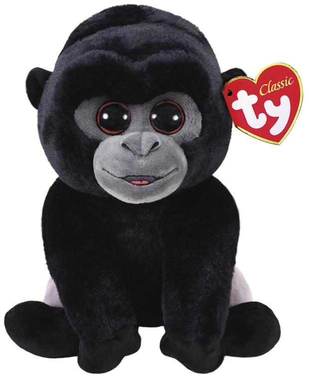 Ty Beanie Babies: Bo Silver Gorilla - Small Plush