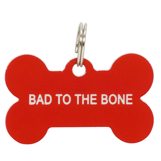 Say What: Pet Tag - Bad To The Bone (Red)