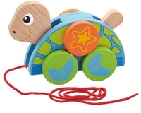 VIGA Wooden Toys - Pull Along Turtle