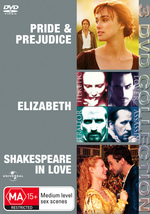 Pride And Prejudice (2005) / Elizabeth / Shakespeare In Love - 3 DVD Collection (3 Disc Set) on DVD