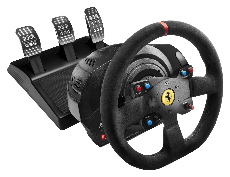 Thrustmaster VG T300 Ferrari Alcantara Edition Racing Wheel (PS3, PS4 & PC) for PS4 image