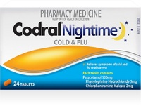 Codral Nightime Tablets (24's)
