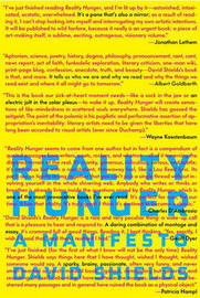 Reality Hunger: A Manifesto image