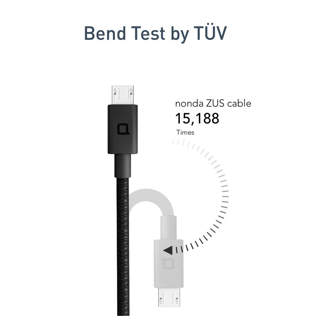 ZUS Super Duty Micro USB Cable Right Angle 4ft/1.2m image