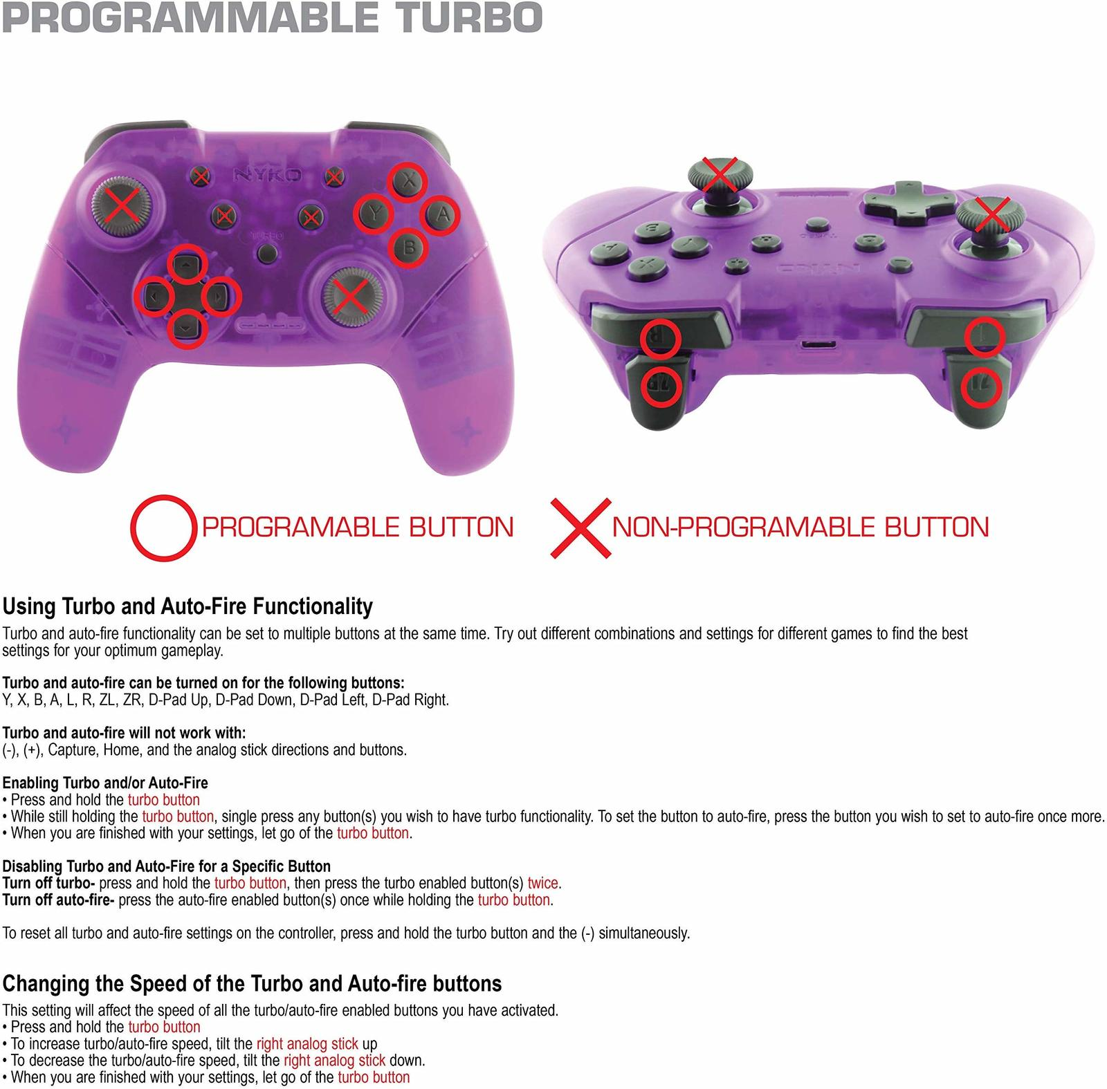 Nyko Switch Wireless Core Controller (Purple) for Switch image
