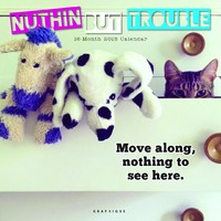 Nuthin But Trouble 2018 Square Wall Calendar