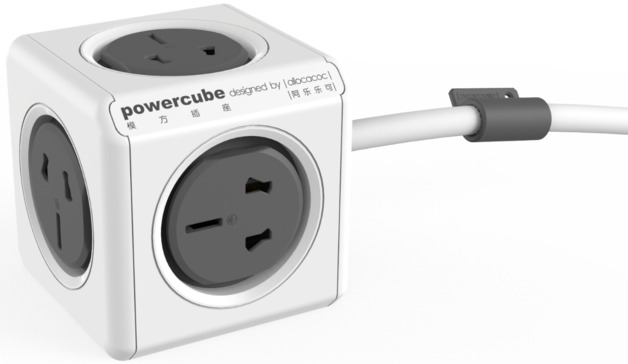 allocacoc PowerCube Extended 3m - 5 Outlets