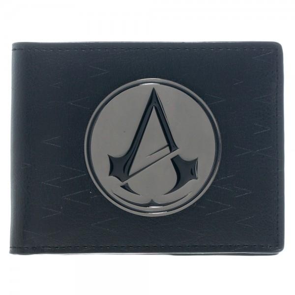Assassins Creed Wallets Assassins Creed Odyssey Metal Logo Badge Premium Bifold Wallet Black