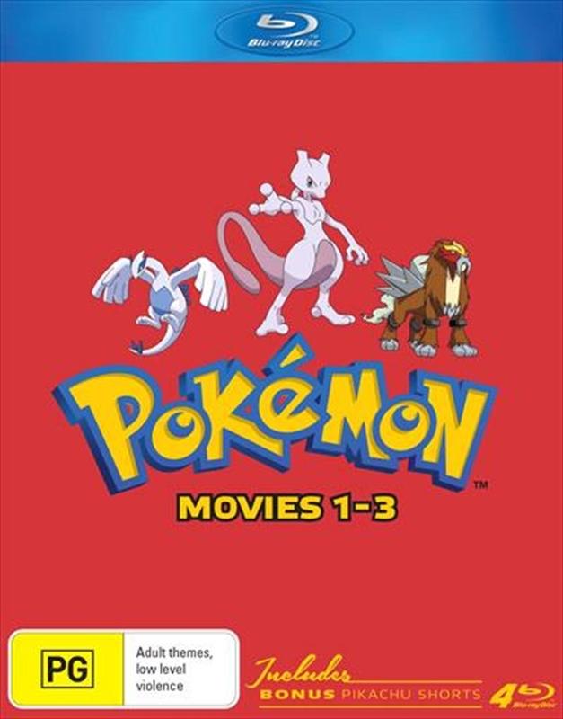 Pokémon Movies 1-3 (Collector's Edition) on Blu-ray