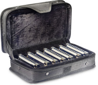 Stagg Blue Harmonica Set of 7 Keys