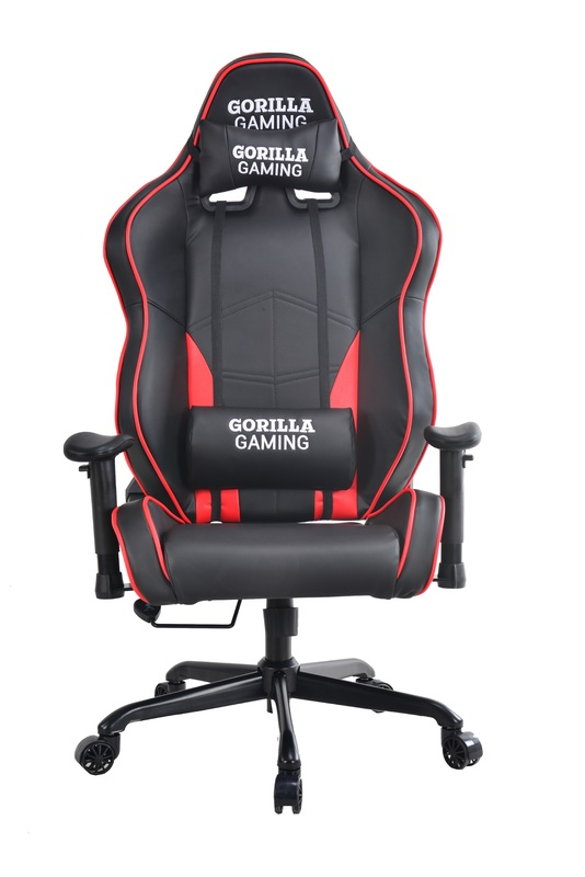 Gorilla Gaming Alpha Chair - Red & Black for