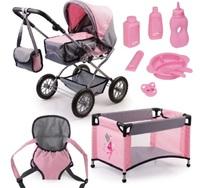 Bayer: Combi Grande Pram Set - Pink