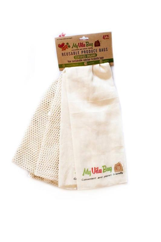 Mixed 2 Large and 2 Small Reusable Produce Bags
