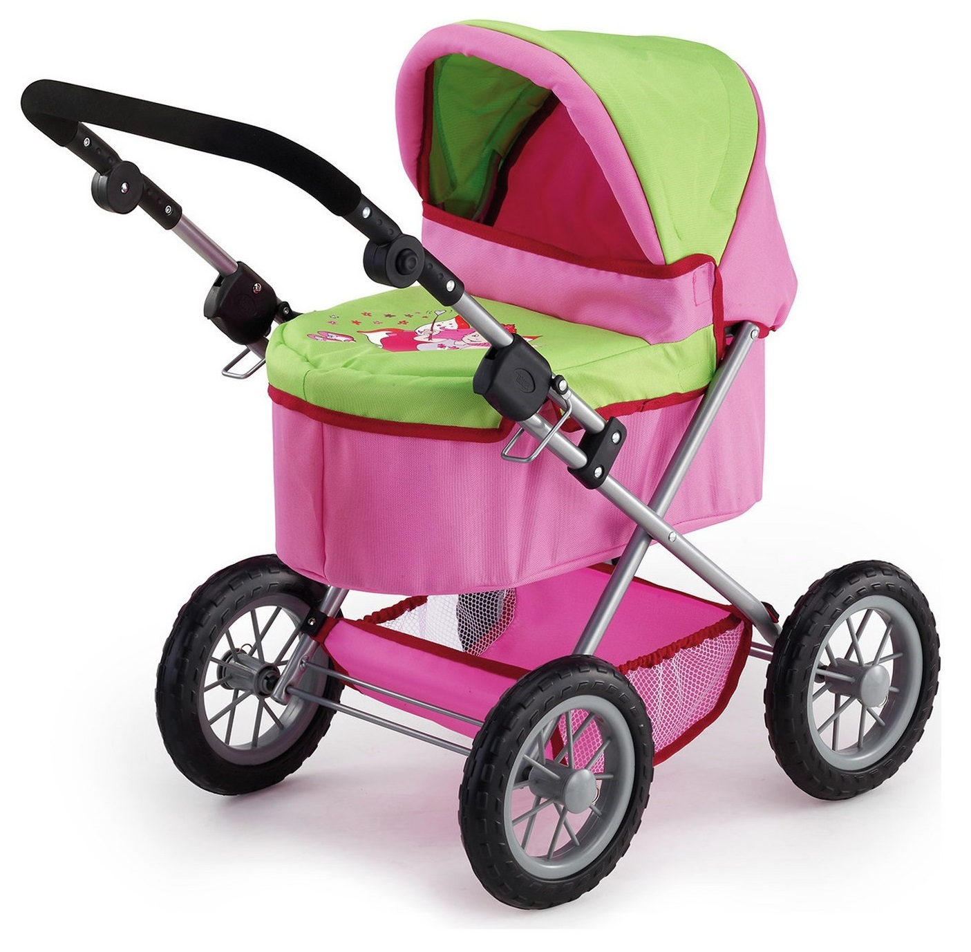Bayer: Trendy Dolls Pram - Pink/Lime image