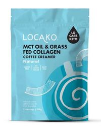 Locako: MCT Oil & Grass Fed Collagen Coffee Creamer - Natural (300g) image