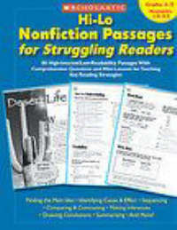 Hi-Lo Nonfiction Passages for Struggling Readers: Grades 4-5 by Scholastic Teaching Resources