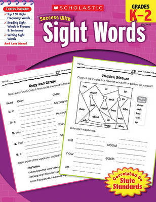 Scholastic Success with Sight Words, Grades K-2 image