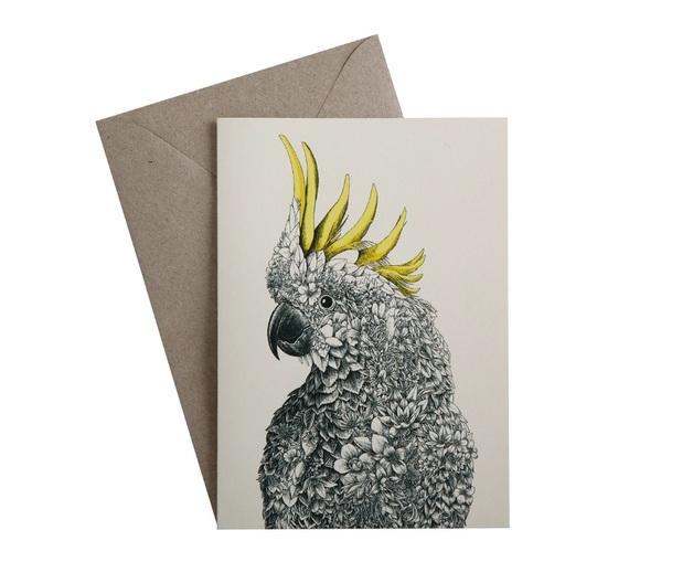 Maxwell & Williams: Marini Ferlazzo Birds Greeting Cards - Cockatoo