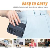 Adjustable Foldable Phone Holder - Black