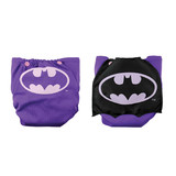 Bumkins DC Comics Snap in One Nappy with Cape - Purple Batman