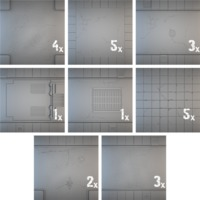 Tablescapes Tiles: Urban Streets - Clean (24 tile set) image