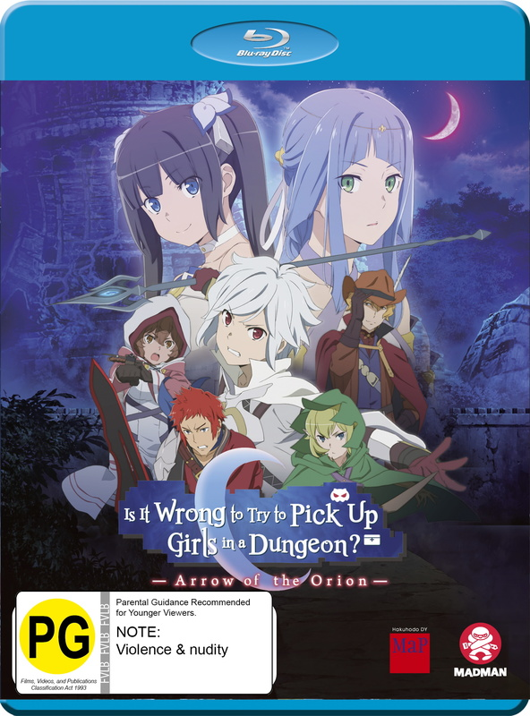 Is It Wrong To Try To Pick Up Girls In A Dungeon? Arrow of The Orion on Blu-ray