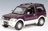 AUTOart 1999 Mitsubishi Pajero SWB 1:43 Die-cast Model - Purple