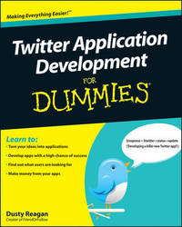 Twitter Application Development For Dummies by Dusty Reagan image