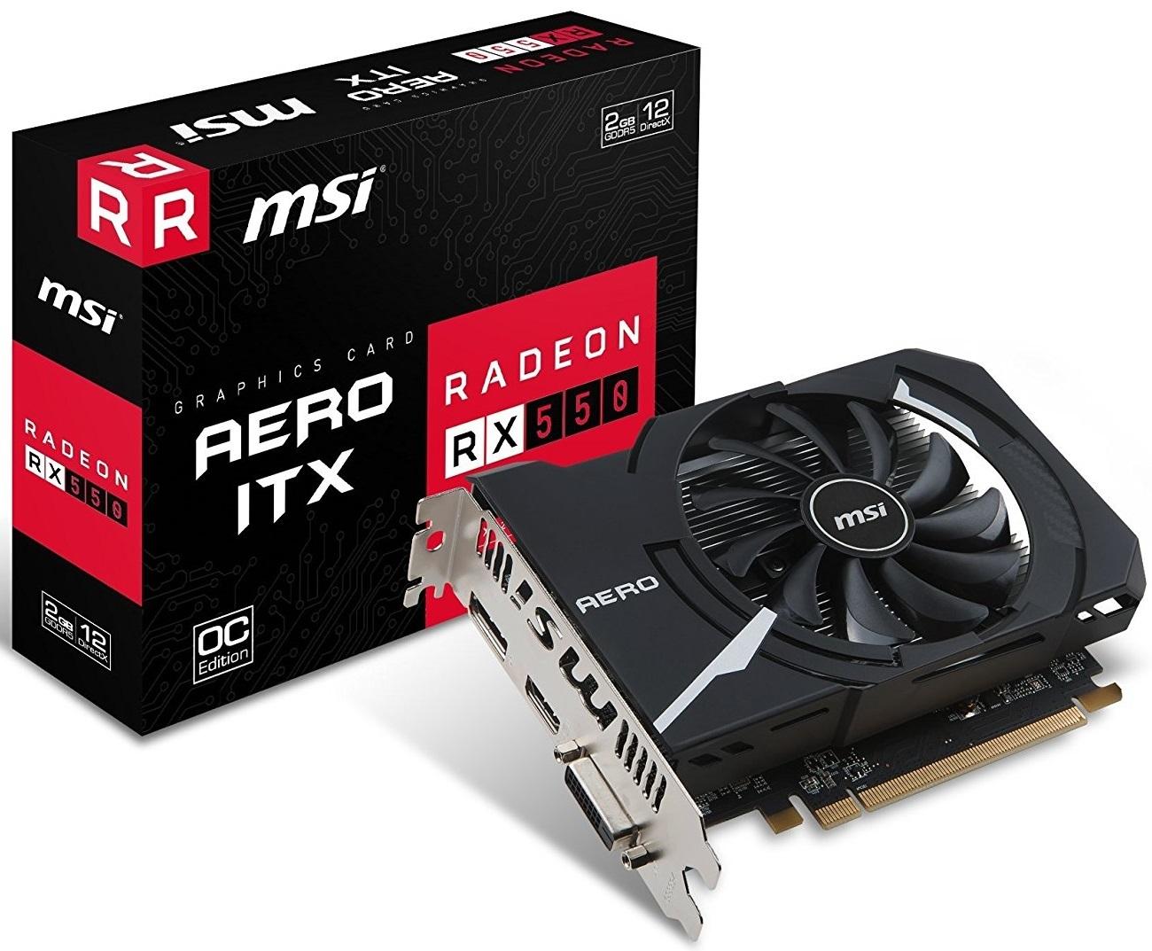 MSI Radeon RX 550 Aero 2GB Graphics Card image