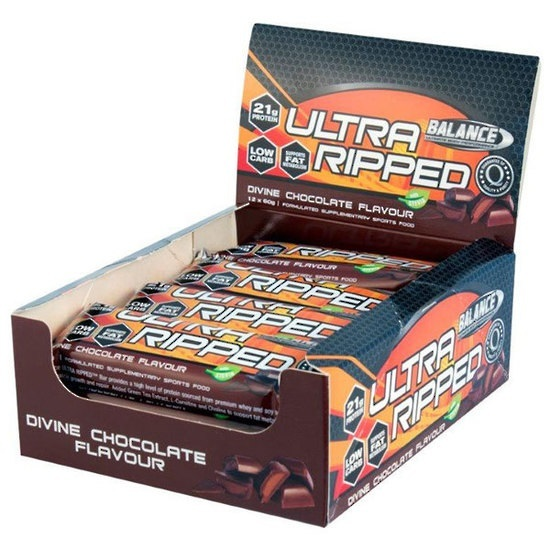Balance Ultra Ripped Protein Bars - Cookies & Cream (12 x 60g Bars)