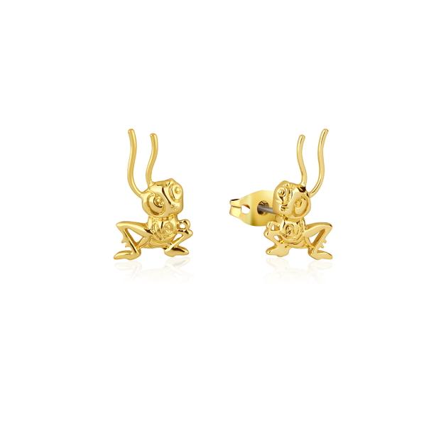 Couture Kingdom: Disney Mulan Cri-Kee Stud Earrings Yellow Gold