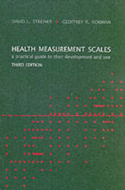 Health Measurement Scales: A Practical Guide to Their Development and Use by David L Streiner image