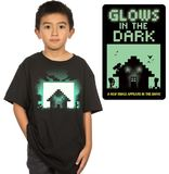 Minecraft Survival Glow in the Dark Youth T-Shirt (Large)