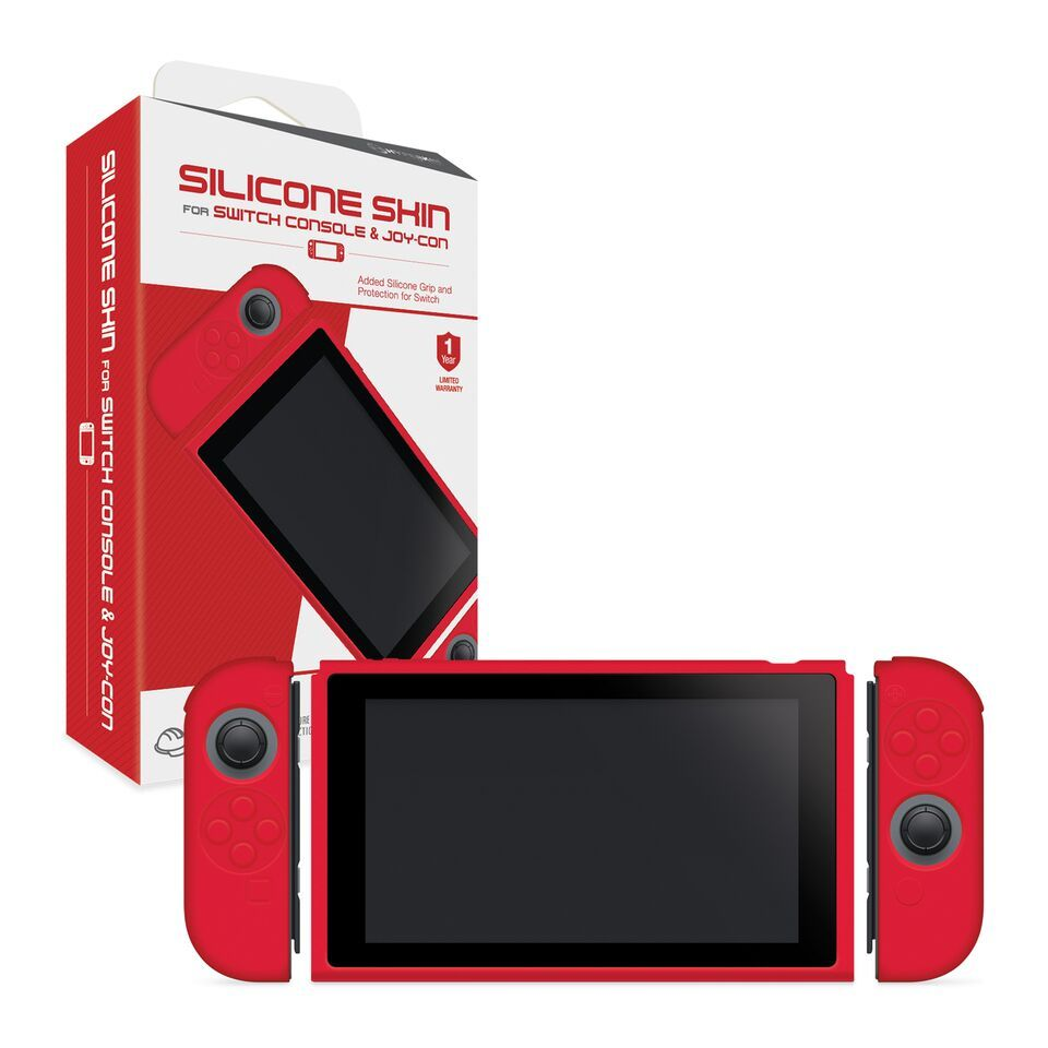 Hyperkin Console and Controller Silicone skins for Switch - Red for Nintendo Switch image