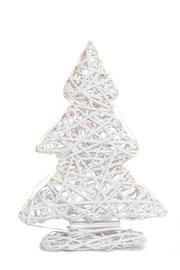 Willow Decorative Christmas Tree Standing with LED - White (Small)