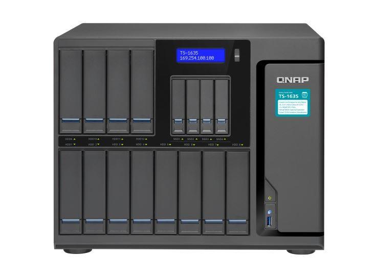 QNAP TS-1635-8G NAS,12+4 BAY(NO DISK),8GB,ARM CORTEX-A15,GbE(2),10GbE SFP+(2),USB,TWR,2YR image