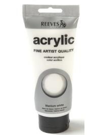 75ml Reeves Fine Acrylic - Titanium White