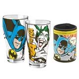 Batman & Joker Schooner & Can Cooler Set of 2