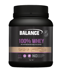 Balance 100% Whey New Formula Protein Powder - Cookies & Cream (750g)