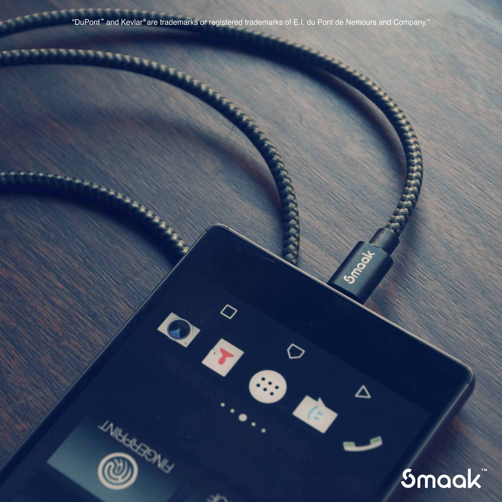 Smaak Tourer 2m Double Braid Nylon Cable Micro USB - Black image