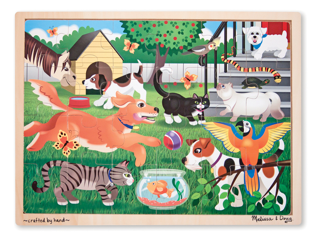Melissa & Doug: Pets Wooden Jigsaw Puzzle - 24pc