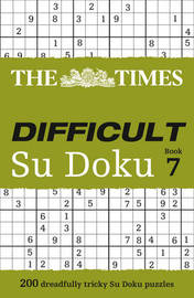 The Times Difficult Su Doku Book 7 by Puzzler Media