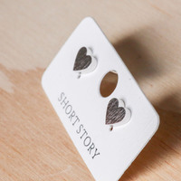 Short Story: Funky Play Earrings - Silver Love Heart