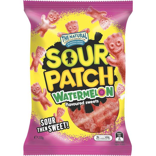 The Natural Confectionery Co Sour Patch Watermelon (220g)