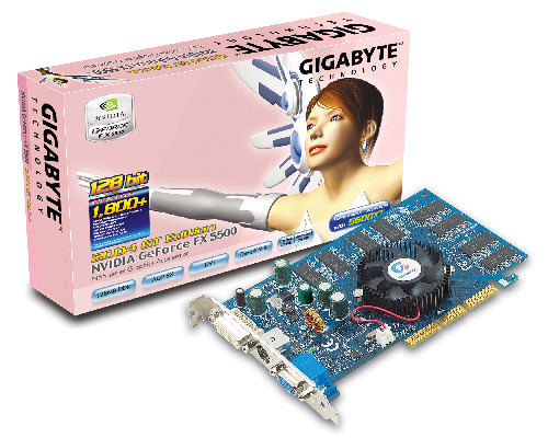 Gigabyte Graphics Card NVIDIA GeForce FX5500 128M AGP
